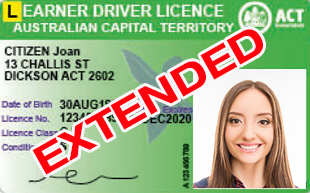Road Ready Driving Training Update | ACT Government Extended Learner Licence Expiry